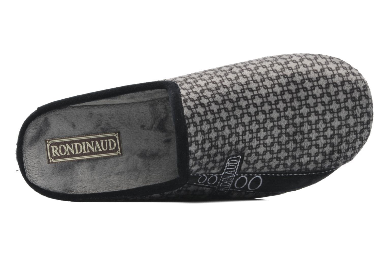 Hausschuhe Rondinaud Aulne grau ansicht von links