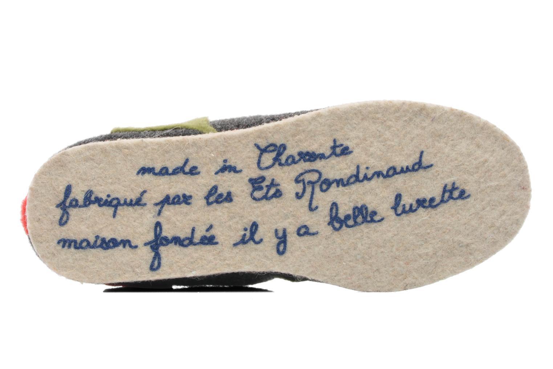 Pantuflas Rondinaud Labescau Negro vista de arriba