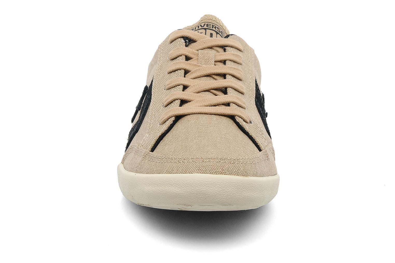 Baskets Converse plim wash ox m Beige vue portées chaussures