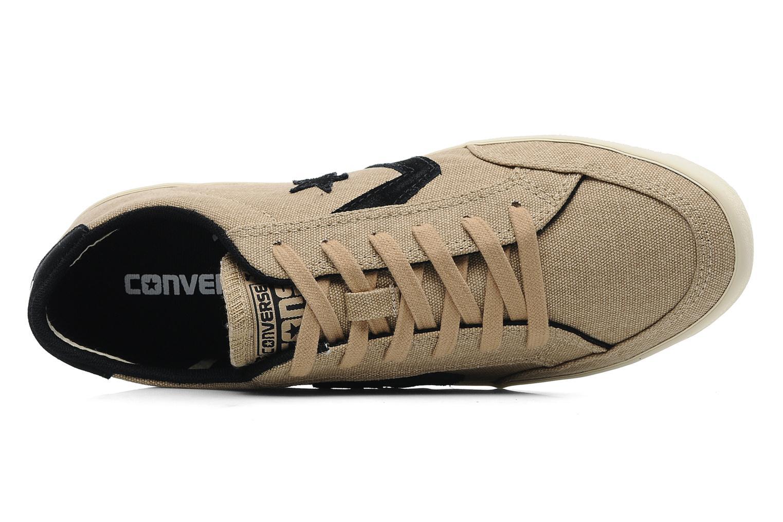 Baskets Converse plim wash ox m Beige vue gauche