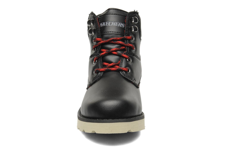 Stiefeletten & Boots Skechers Bowland schwarz schuhe getragen
