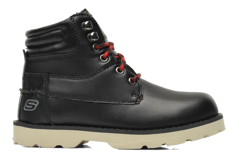 Boots en enkellaarsjes Skechers Bowland Zwart achterkant