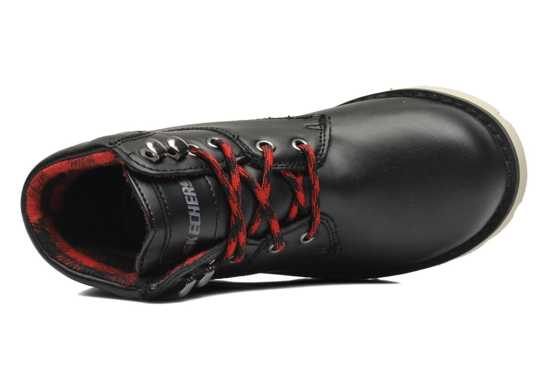 Boots en enkellaarsjes Skechers Bowland Zwart links