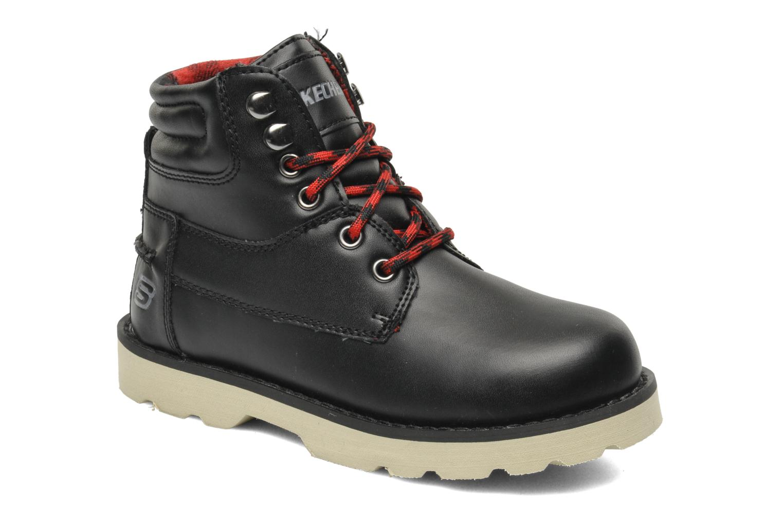 Boots en enkellaarsjes Skechers Bowland Zwart detail