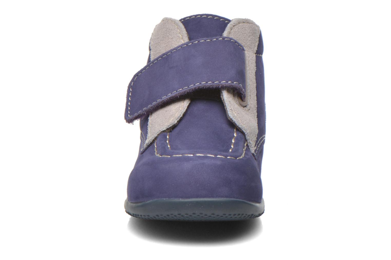 Chaussures à scratch Kickers Bono Bleu vue portées chaussures