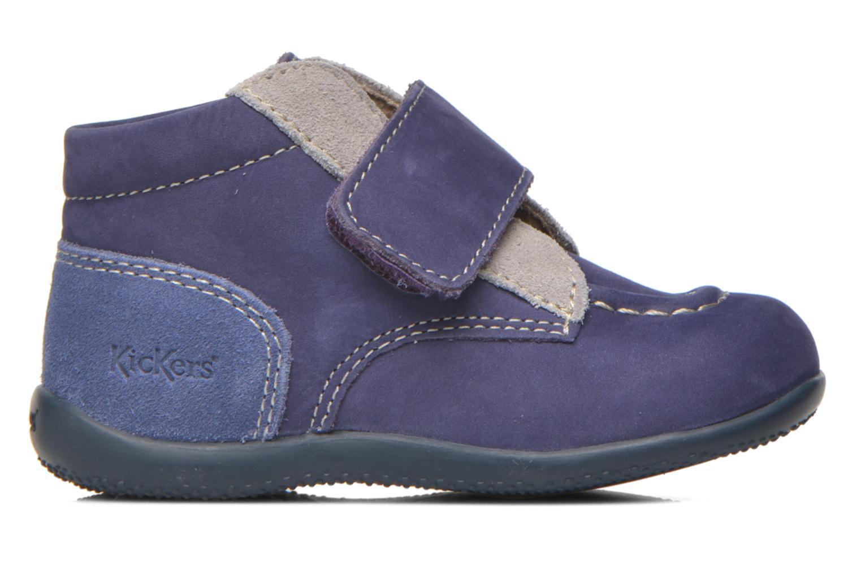 Chaussures à scratch Kickers Bono Bleu vue derrière