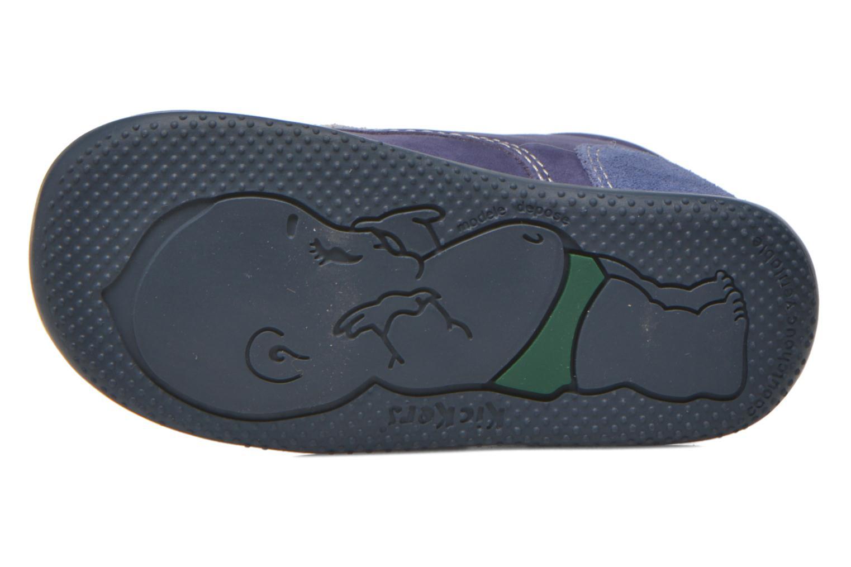 Chaussures à scratch Kickers Bono Bleu vue haut