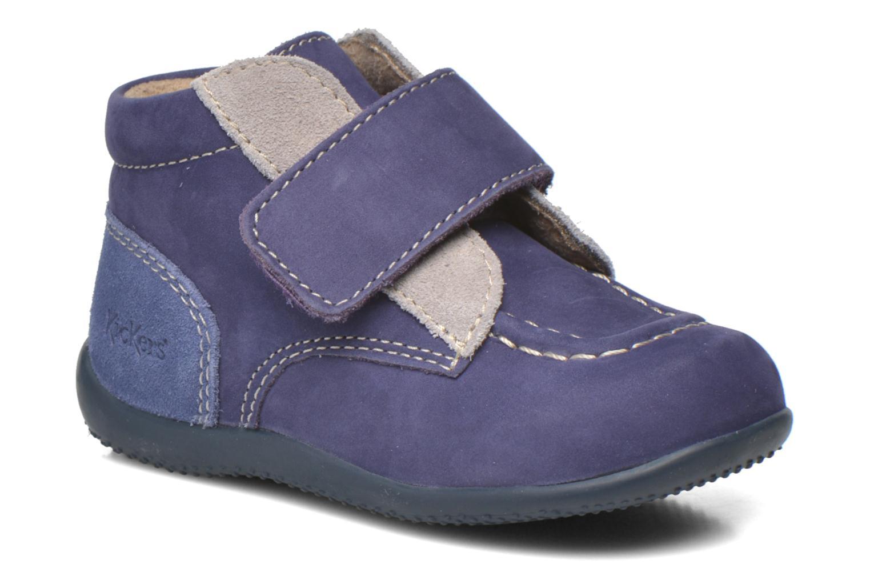 Chaussures à scratch Kickers Bono Bleu vue détail/paire