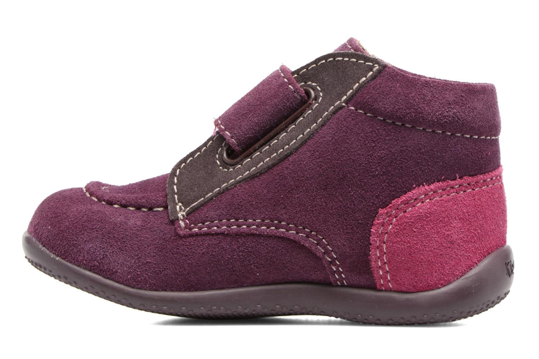 Chaussures à scratch Kickers Bono Violet vue face