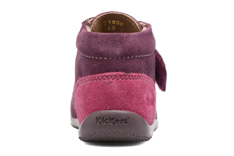 Chaussures à scratch Kickers Bono Violet vue droite