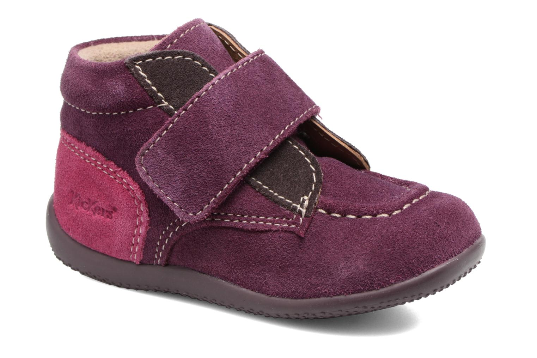 Chaussures à scratch Kickers Bono Violet vue détail/paire