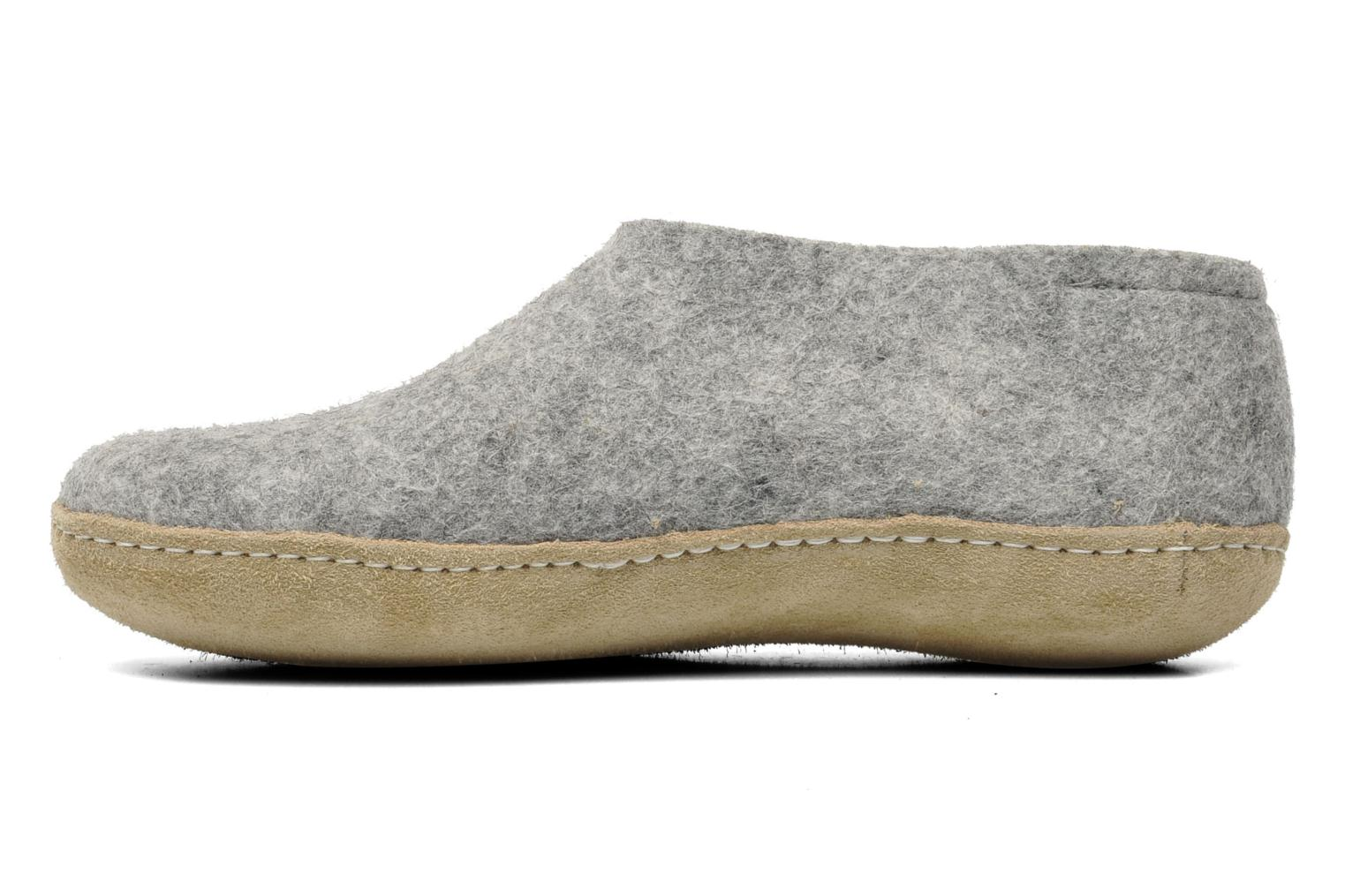 Slippers Glerups Porter W Grey front view