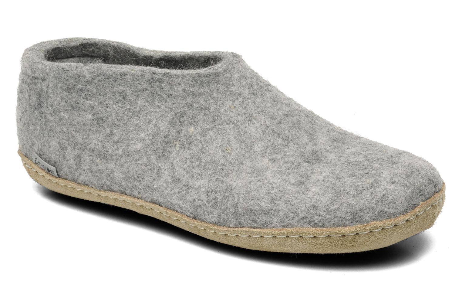 Slippers Glerups Porter W Grey detailed view/ Pair view