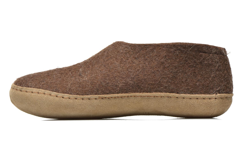 Pantoffels Glerups Porter W Bruin voorkant