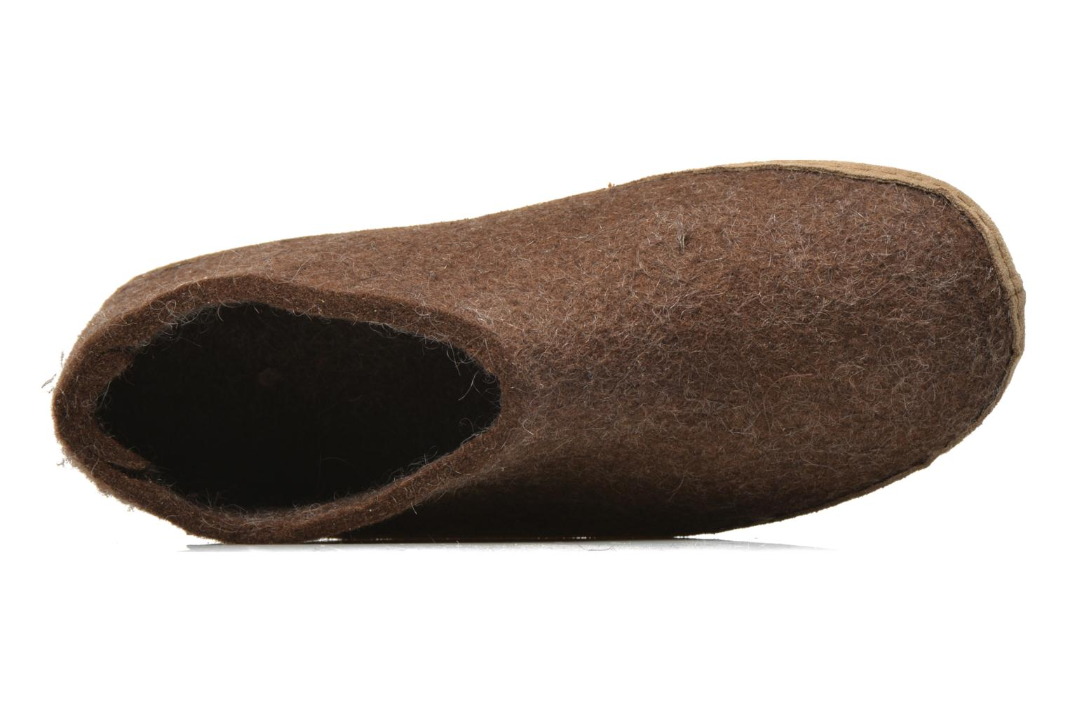Slippers Glerups Porter W Brown view from the left