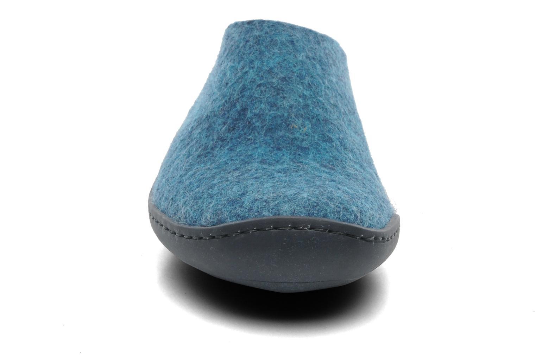 Chaussons Glerups Piras Gomme W Bleu vue portées chaussures