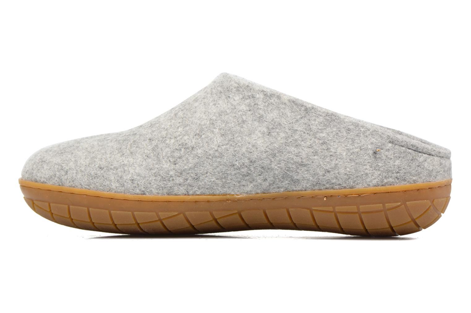 Chaussons Glerups Piras Gomme M Gris vue face