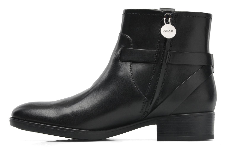 Boots en enkellaarsjes Geox D FELICITY E D44G1E Zwart voorkant