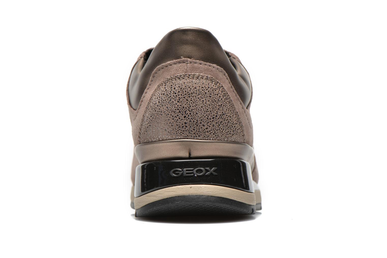 Baskets Geox D SHAHIRA A D44N1A Or et bronze vue droite