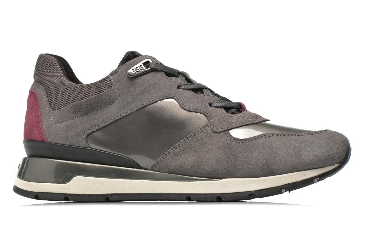 Trainers Geox D SHAHIRA A D44N1A Grey back view