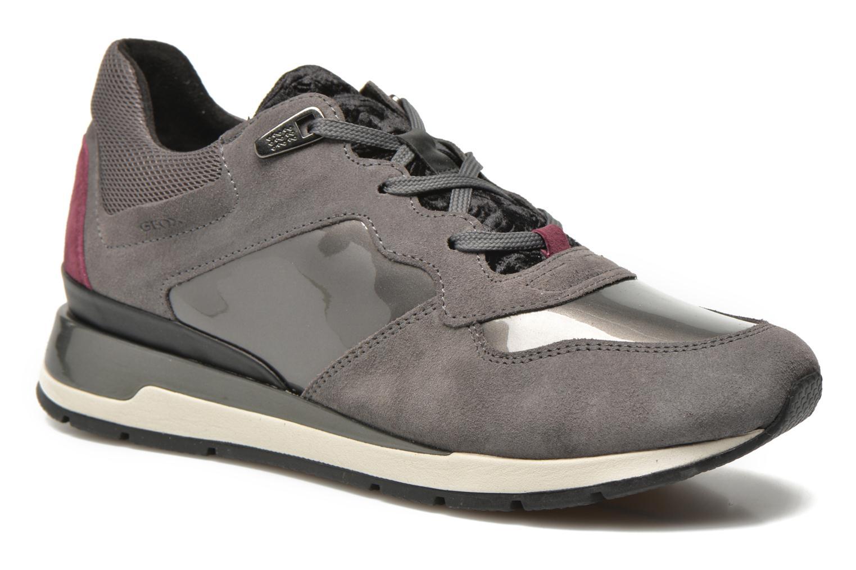 Sneakers Geox D SHAHIRA A D44N1A Grå detaljeret billede af skoene
