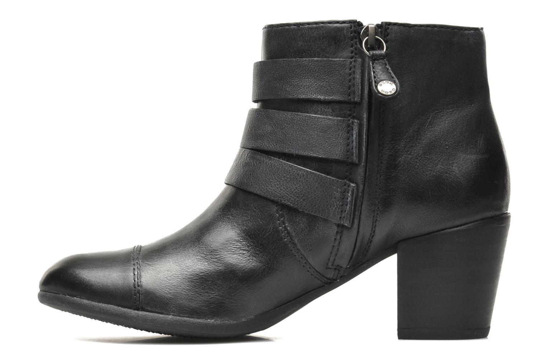 Boots en enkellaarsjes Geox D LUCINDA A D4470A Zwart voorkant