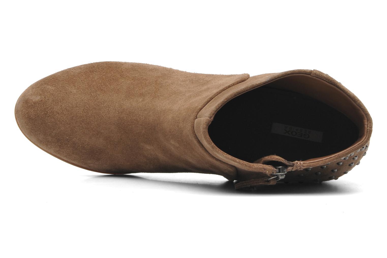 Boots en enkellaarsjes Geox D LUCINDA C D4470C Beige links
