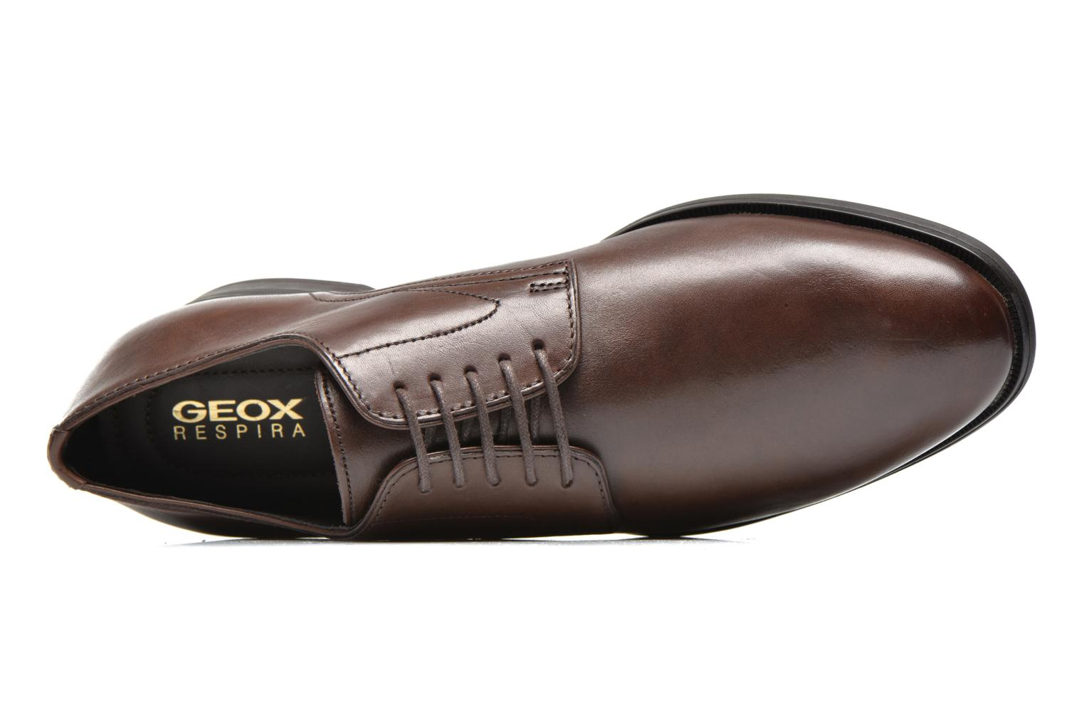 Lace-up shoes Geox U ALBERT 2FIT F U44W3F Brown view from the left