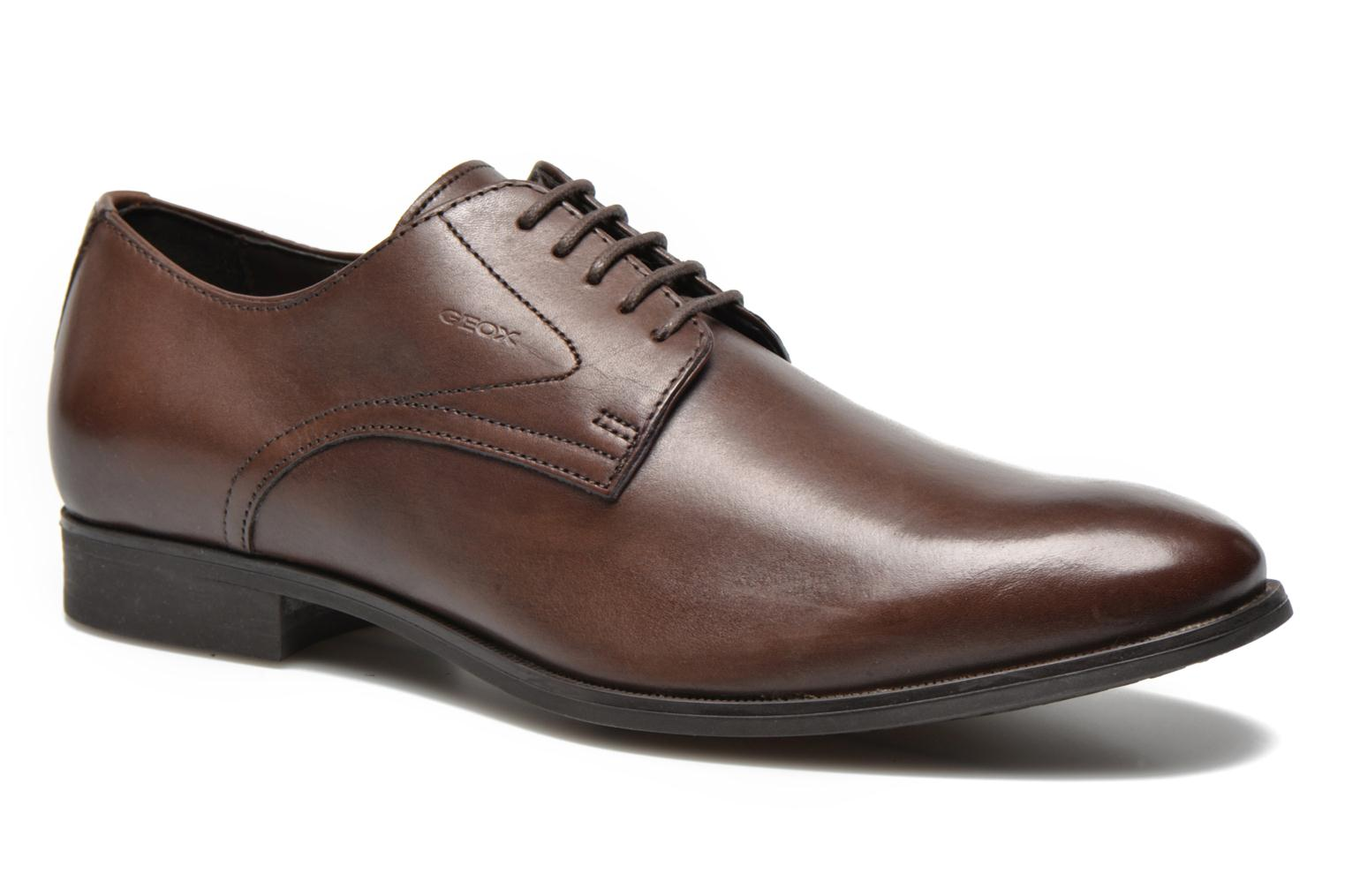 Lace-up shoes Geox U ALBERT 2FIT F U44W3F Brown detailed view/ Pair view