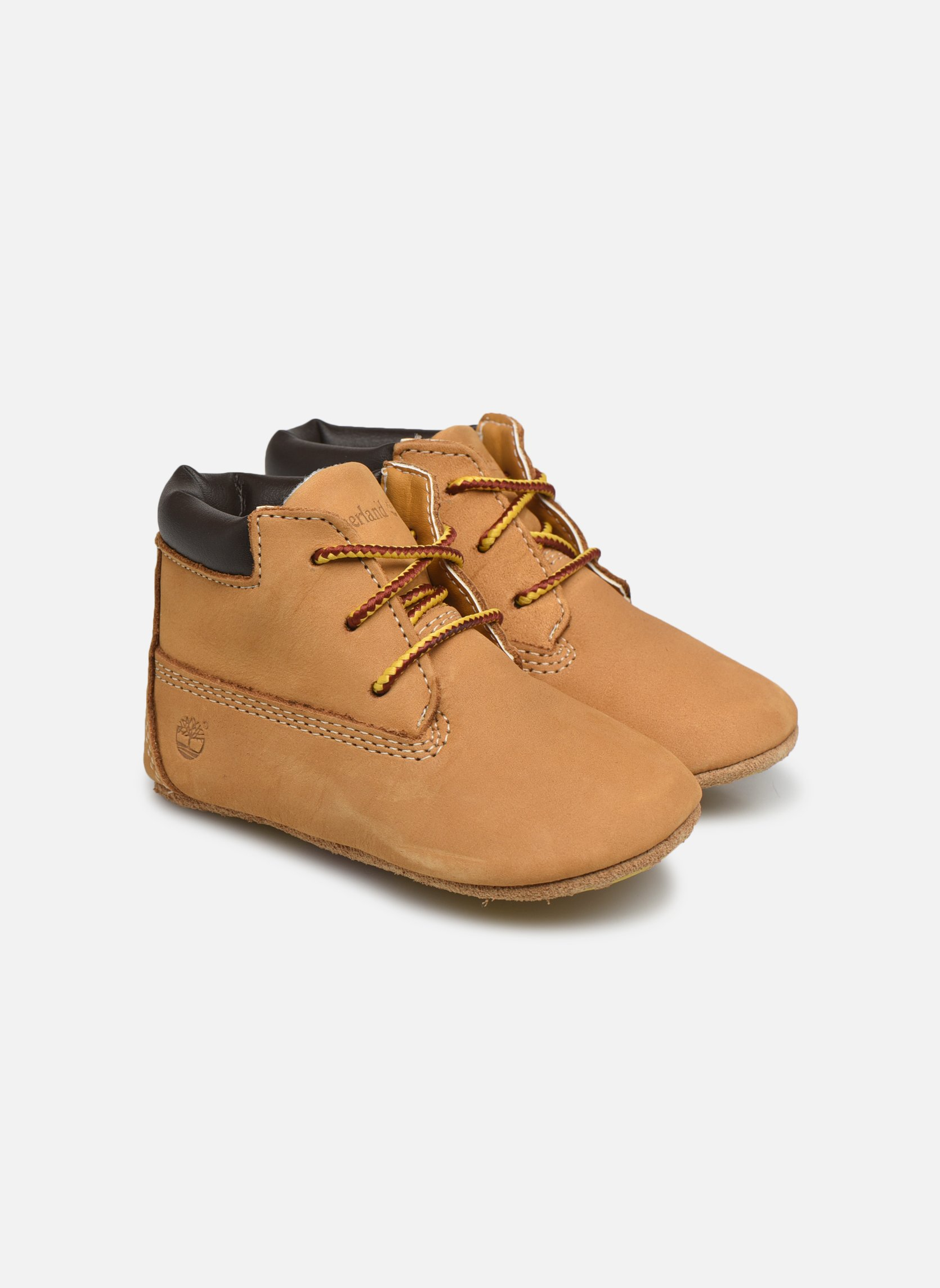 Chaussons Timberland Crib Bootie with Hat Beige vue 3/4