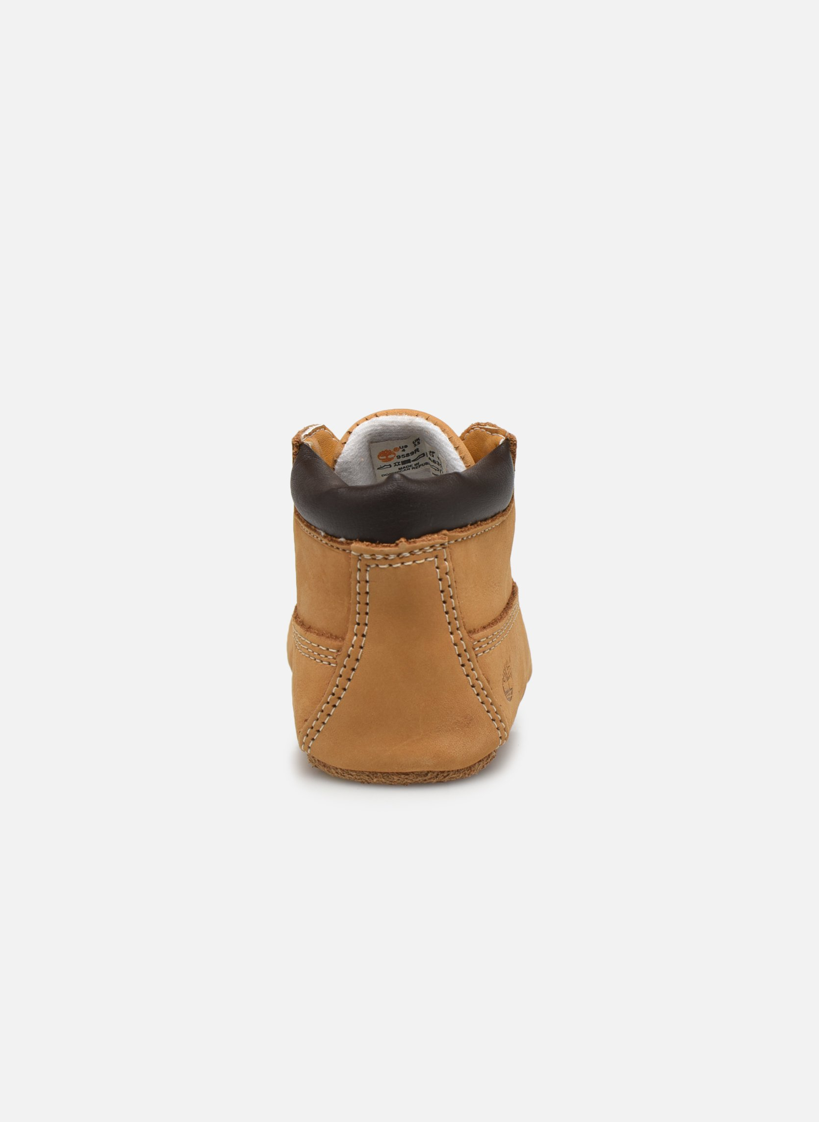 Crib Bootie with Hat Wheat