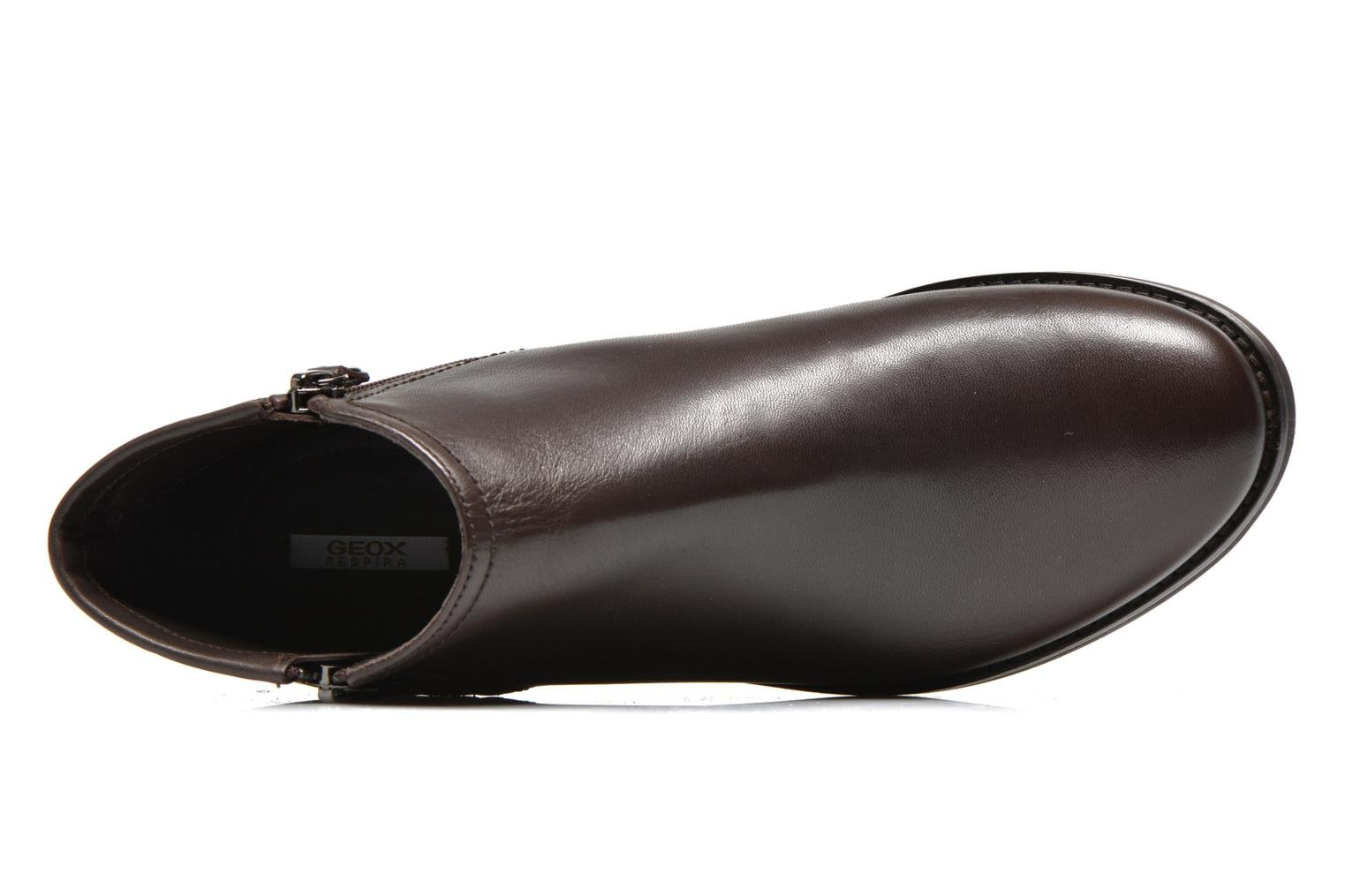 Ankle boots Geox D PROMETHEA F D44R3F Brown view from the left