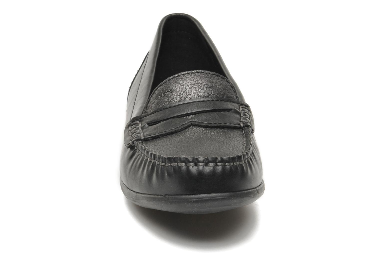Slipper Geox D YUKI D4455A schwarz schuhe getragen