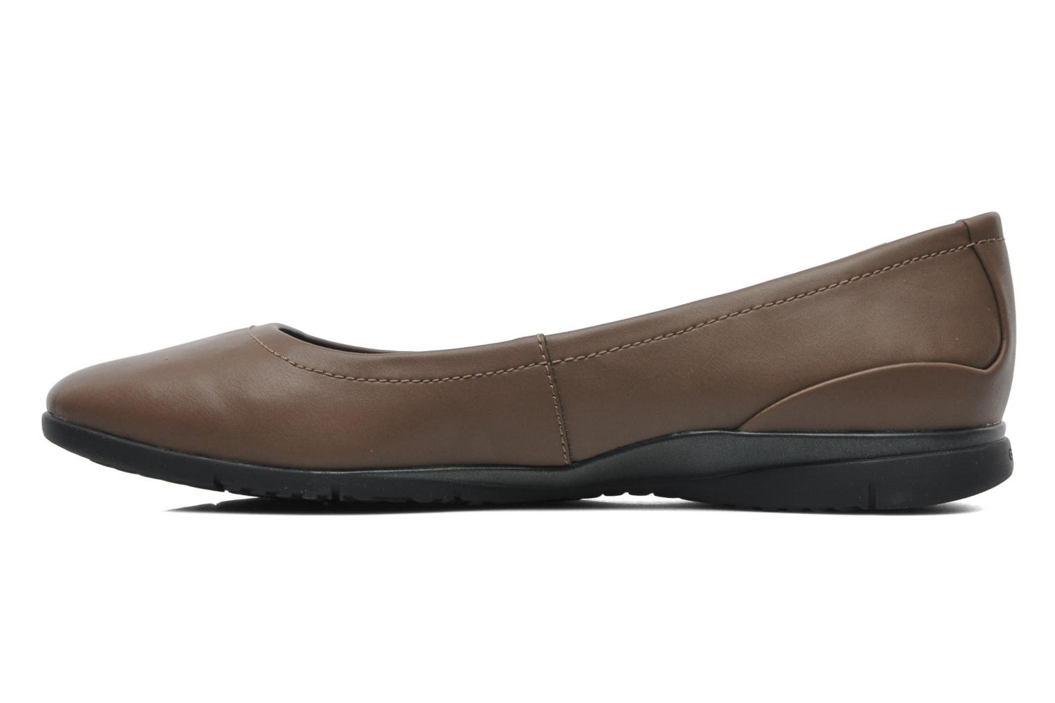 Ballet pumps Geox D ZANE A D44N3A Brown front view