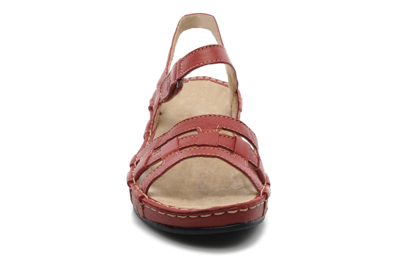 Sandales et nu-pieds TBS Vladia Rouge vue portées chaussures