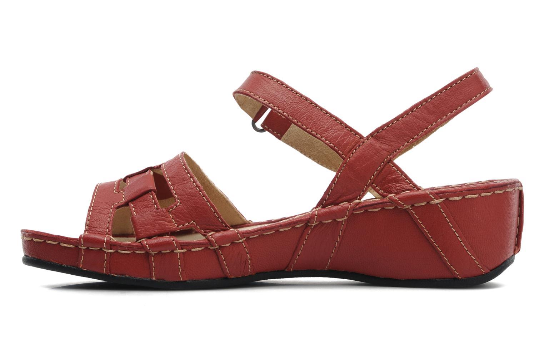 Sandales et nu-pieds TBS Vladia Rouge vue face