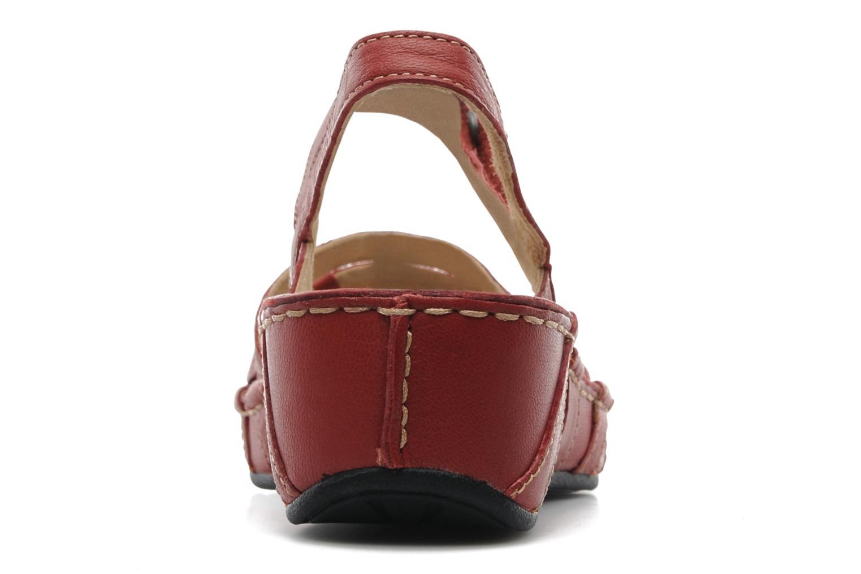 Sandales et nu-pieds TBS Vladia Rouge vue droite