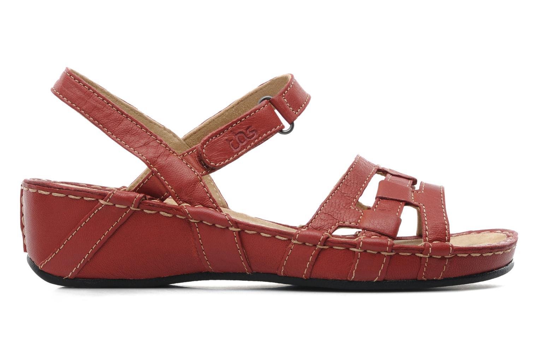 Sandales et nu-pieds TBS Vladia Rouge vue derrière