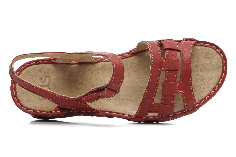 Sandales et nu-pieds TBS Vladia Rouge vue gauche