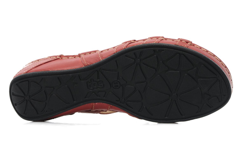 Sandalen TBS Vladia rot ansicht von oben