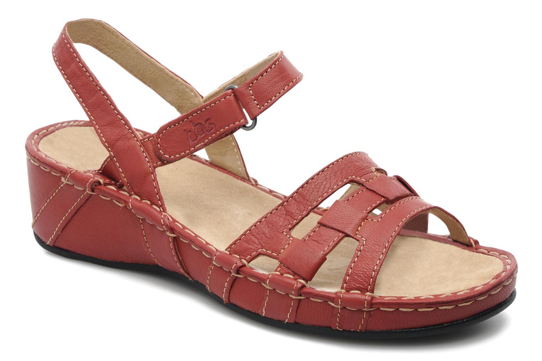 Sandales et nu-pieds TBS Vladia Rouge vue détail/paire