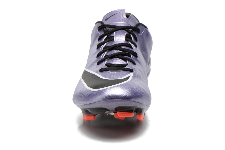 Chaussures de sport Nike Mercurial Veloce II Fg Violet vue portées chaussures