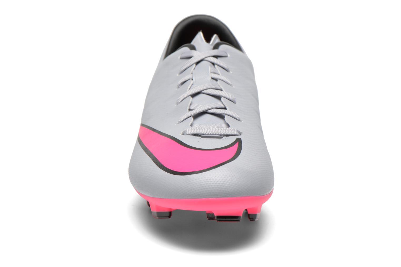 Zapatillas de deporte Nike Mercurial Victory V Fg Gris vista del modelo