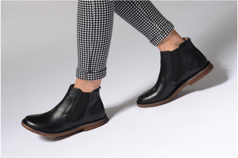 Bottines et boots Kickers Creboots Marron vue bas / vue portée sac