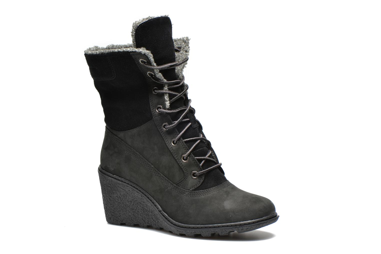 Bottines et boots Timberland Earthkeepers Amston Roll-Top Noir vue 3/4