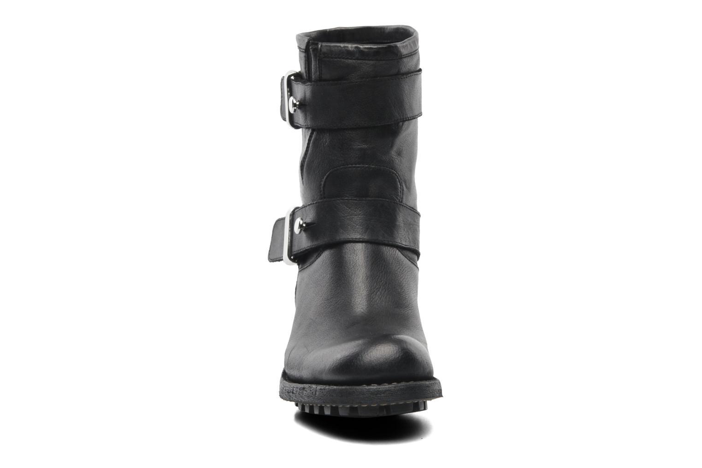 Bottines et boots Free Lance Biker 4 Ministrap Buckle Noir vue portées chaussures