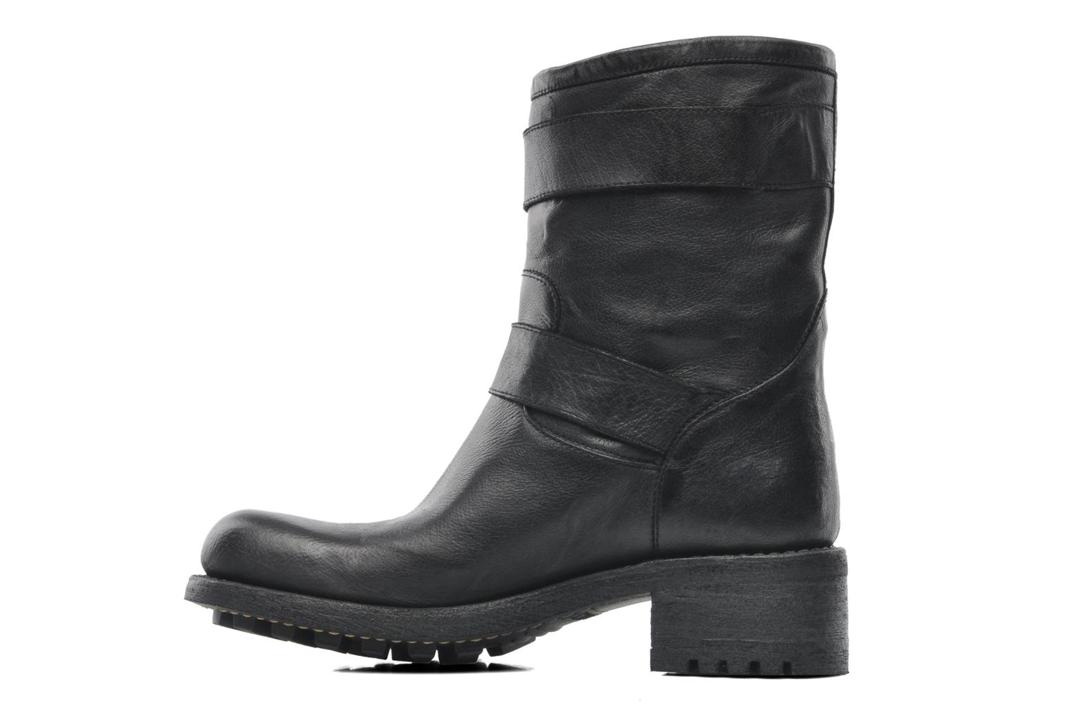 Ankle boots Free Lance Biker 4 Ministrap Buckle Black front view