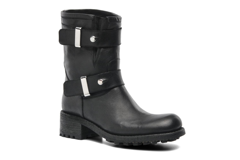 Bottines et boots Free Lance Biker 4 Ministrap Buckle Noir vue détail/paire