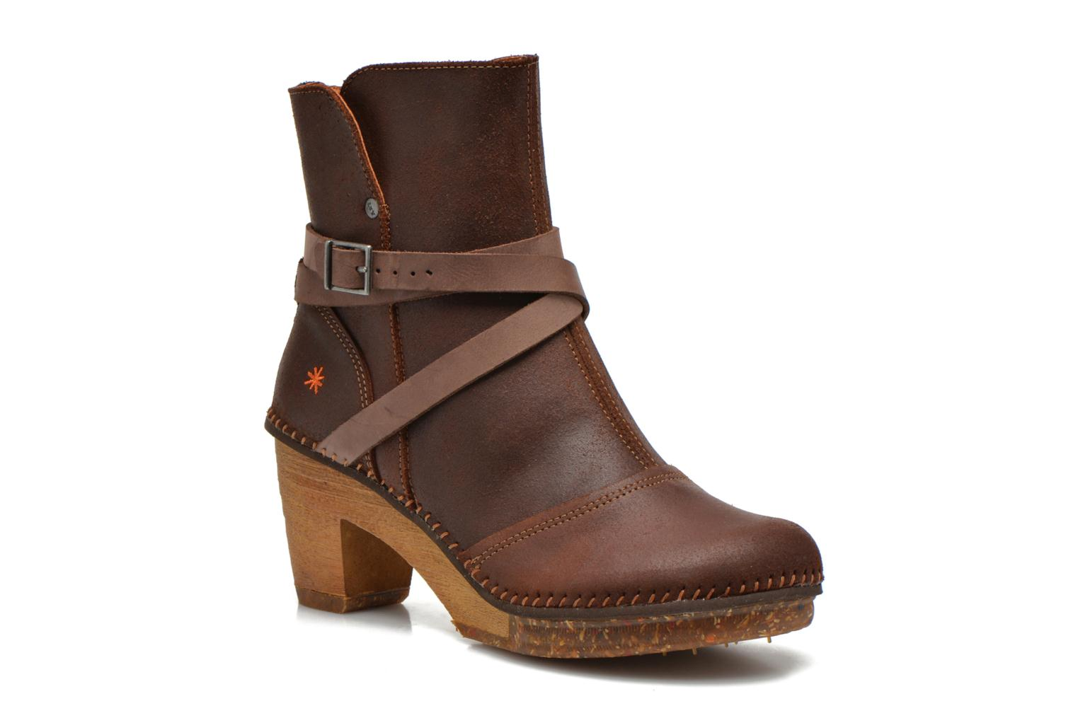 Ankle boots Art Amsterdam 343 Brown detailed view/ Pair view