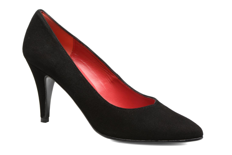 High heels Anna Volodia Ameriane Black detailed view/ Pair view